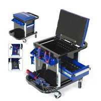 Juego Unid de herramientas de PC WORKPRO 135 asiento de banco de trabajo móvil con herramientas manuales taburete de trabajo