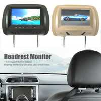 7 pulgadas Universal TFT pantalla LED coche MP5 reproductor reposacabezas monitor soporte AV/USB/SD Entrada/FM /altavoz/cámara de coche