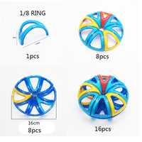 16 Uds. Bloques magnéticos piezas especiales 3D DIY bloques de construcción partes accesorios imán de construcción juguetes educativos