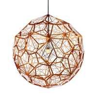 Moderno oro plata cobre Etch colgante Web luces Tom Dixon Acero inoxidable diamante polígono lámpara colgante para salón
