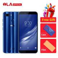 ILA de 4 GB 64 GB teléfono móvil Snapdragon 430 Octa Core Android 8,1 teléfonos 16MP y 13MP + 2MP cámara trasera 5,7
