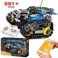 391 Uds. Creador APP Control remoto coche ladrillos legotely Technic RC rastreado modelo de carreras bloques de construcción juguetes para niños regalo