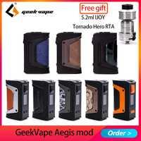 Nuevo color GeekVape auspicios mod auspicios leyenda 200 W TC caja MOD alimentado por Dual 18650 e cigs No batería Para zeer rta blitzen