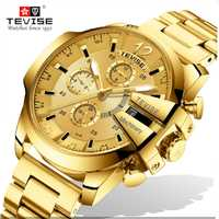 Relojes de pulsera con correa de acero inoxidable militares deportivos de lujo para negocios T814b de marca superior