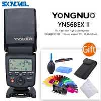 Yongnuo YN-568EX II inalámbrico TTL HSS 1/8000 s flash speedlite para Canon 7D 7DII 6D 6D Mark II 200D 77D M6 M5 5D 5DS 800D 750D