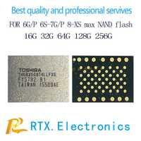 2 unids/lote 512G para IPhone 6 6 s 7 7 plus Nand IC de memoria flash chip IC con reemplazo de reparación de circuitos de teléfonos móviles programados