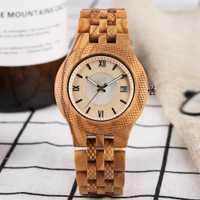 Minimalista reloj de cuarzo para hombres práctica función luminosa completa relojes de madera para las mujeres elegante Calendario de madera reloj de pulsera regalo