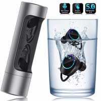 YTOM Mini inalámbrico auriculares 3D sonido con luz de la respiración TWS Bluetooth 5,0 para Auriculares auriculares con micrófono para apple xiaomi huawei