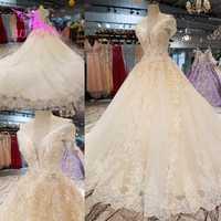 Vestidos de novia AIJINGYU con vestidos de encaje perlas Rusia Federación Australia chica vestido de Organza de lujo para vestido de novia