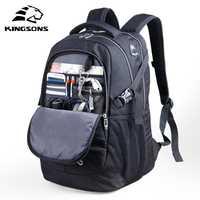 Kingsons 15,6 pulgadas a prueba de golpes a prueba de hombres portátil mochilas para hombre bolsa de gran capacidad resistente al desgaste de la escuela bolsas de viaje de negocios mochilas