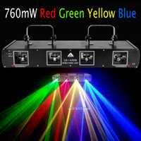 (Envío desde Alemania) 760 MW RGBW luz láser a todo Color proyector de escenario DJ fiesta de Navidad Decoración