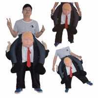 Juguete de la novedad ee.uu. montar en DT Donald Trump vestir ropa fiesta de Halloween Cosplay caballo de silla al aire libre juguete Mascotas suave pantalones