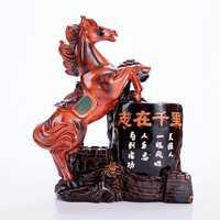 Creativo clásico caballo modelo sostenedor de la pluma de escritorio artesanía apuntando a la Maxima caballo figuras sostenedor de la pluma decoración regalos