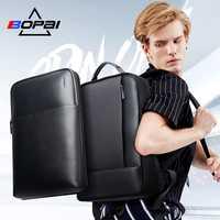 BOPAI 2 en 1 mochilas para hombres desmontable de 15,6 pulgadas del ordenador portátil mochila hombre impermeable Notebook Slim back pack de la escuela mochilas