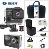 EKEN H5s Plus 4 K + pantalla táctil Cámara Ambarella A12 Chipset 4 K estabilización de imagen WiFi Sensor de Sony Sensor 2,0 pulgadas pantalla táctil