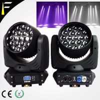2 unids/lote 19x12 W rgbw Wash luz principal móvil Zoom In/Out LED cabeza móvil luz arandela máquina etapa FTX1912 nave libre al por mayor