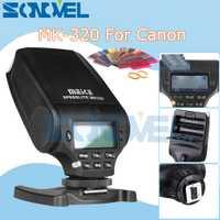 Meike MK320 MK-320 GN32 TTL flash speedlite para Canon EOS M3 M5 M6 1300D 800D 760D 750D 77D PowerShot G15 g16 GX5 G3X G1X SX60