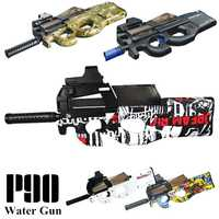 P90 juguete eléctrico de juguete pistola de agua bala ráfagas arma En directo/Live CS asalto Snipe arma al aire libre pistola juguetes educativos