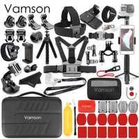 Accesorios para Cámara de Acción Vamson para go pro Hero 7 6 5 4 para Xiaomi Yi 4 K para Sony Nikon juego para DJI OSMO Action VS82