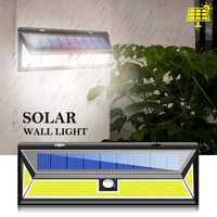 180 LED COB Sensor de movimiento Solar lámpara de pared impermeable gran ángulo de iluminación exterior Lampe Solaire exterior Luces Solares