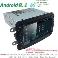Android 8,1 4 QuadCore 2 GB + 16 GB GPS Navigator Radio para Dacia Renault Duster Logan Sandero coche DVD Central Cassette Player DAB 4G