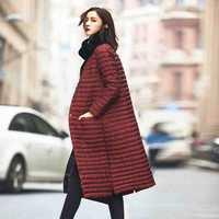 Ultra luz 2017 Chaqueta larga de las mujeres abrigo Plus tamaño invierno pato marca Collar Plus Capuz ligero ultraligero