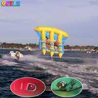 OCYLE aire libre + 1 unid bomba de aire, 6 personas/asientos inflables agua volando banana boat, pez Volador inflable/flyfish mar juegos