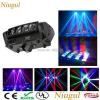 Niugul de alta calidad 8X10 W Mini LED araña luz DMX512 LED cabeza móvil luz RGBW LED haz Club DJ discoteca etapa de iluminación KTV lámpara