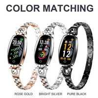 Nuevo Corazón de vigilancia inteligente relojes mujer marca reloj electrónico impermeable reloj Bluetooth síncrono del teléfono móvil
