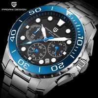 PAGANI diseño 2018 superior de la marca de lujo de resistente al agua reloj de cuarzo militar de los hombres de moda casual reloj de nuevo regalo Relogios Masculino