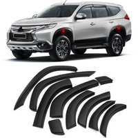 Guardabarros de rueda de arco delantero y trasero Protector de 10 piezas de plástico para Mitsubishi Pajero Sport/Montero Sport/Shogun deporte 2016-2018