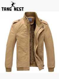 TANGNEST Popular 2019 nueva chaqueta de los hombres, además de terciopelo de Color sólido de calidad superior los hombres chaqueta de invierno cálido tamaño asiático 3XL MWJ193