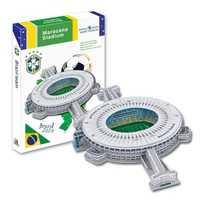 Candice Guo 3D rompecabezas DIY papel de juguete edificio modelo Maracaná estadio fútbol montar juego trabajo de mano regalo de cumpleaños