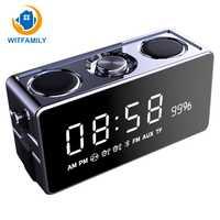 Moderno Bluetooth inalámbrico de alarma de reloj Digital de radio FM pantalla LED altavoz bass reloj electrónico de función a casa