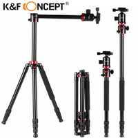 K & F CONCEPT trípode portátil profesional de aleación de aluminio trípode de viaje monopié para vídeo Digital para Canon para Nikon para cámaras