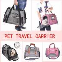 Impermeable perro carros gato portador del perro portable mochila transpirable perro coche rodillo bolsa de viaje carry bag suministros al aire libre