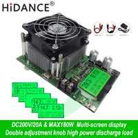 Probador de capacidad Digital de 180W Indicador de fuente de alimentación dc 200V carga electrónica 18650 resistencia de descargador de batería prueba de comprobación usb