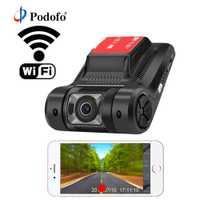Podofo Wifi coche DVR registrador grabadora de vídeo Digital videocámara Dash Camera 1080 versión de la noche Novatek 96658 Dash Cam APP