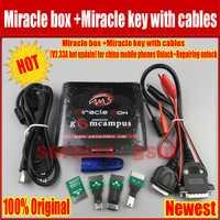 Venta caliente Original de milagro caja + milagro clave con cables (V2.48 caliente actualización) para china teléfonos móviles desbloquear + reparación desbloquear