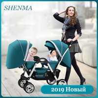 SHENMA poussette bébé Double bébé peut s'asseoir et poser poussette pliante légère livraison gratuite
