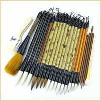 24 pcs/ensemble De Luxe Haute Qualité Pinceau de Calligraphie Stylo Ensemble Chinois Paysage Peinture Brosses S/M/L Écriture Régulière Pinceaux à écrire