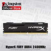 Kingston HyperX FURY 4 GB 8 GB 16 GB DDR4 2400 MHz PC RAM memoria DIMM 288 pin-escritorio ram de memoria interna. memoria RAM para juegos de ordenador Ram
