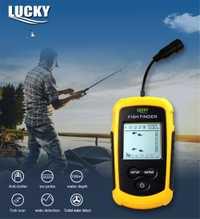 2019 Venta caliente alarma 100M Sonar portátil LCD peces Finders señuelo pesca eco Sounder pesca buscador FFC1108-1 peces más profundos finder