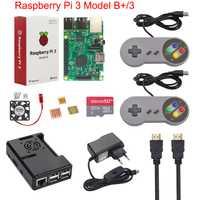 Raspberry Pi 3 modelo B, modelo B +, más juego de arranque Kit + 16G 32G tarjeta SD + Gamepad + + ventilador + de + disipador de calor + Cable HDMI para RetroPie