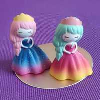 SWEES 10 unids/lote Kawaii Jumbo arco iris de Bling princesa Gril Squishy Slow Rising Antistress juguetes Squeeze perfumado niños regalo