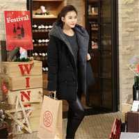 Invierno de alta calidad de algodón con capucha chaqueta acolchada Parka Plus tamaño grande chaqueta mujeres medio-largo engrosamiento chaqueta de invierno cálido TT3152