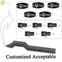 CSJA Curve caña doblada sello herramienta para la joyería nueva K 925 750 585 999 990 oro plata esterlina Punch marca Metal E554