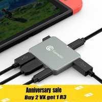 GameSir GTV130 Mini Hub USB 5-Puerto de pantalla HDMI Cable adaptador para Nintendo interruptor/HUAWEI/Samsung/ microsoft Lumia/Smartisan tuerca