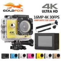 Original Goldfox F60/F60R acción Cámara 4 K HD WiFi Control remoto de vídeo de deportes videocámara DV impermeable go pro cámara 1080 p Cam