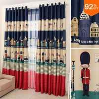 16 Euro los niños dulce sueño Inglaterra soldado de juguete apagón de la Guardia Real de chico cortinas estudio habitación cortina de dormitorio clásico